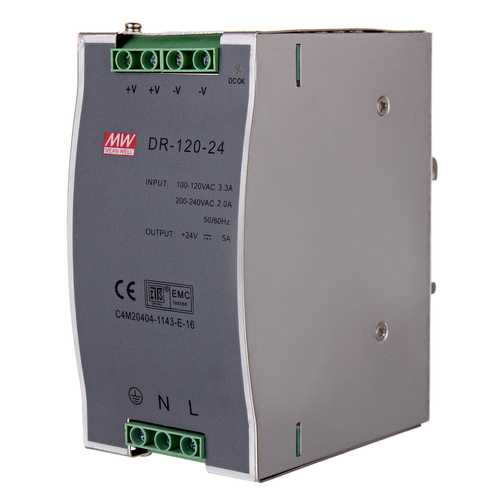 120W Din Rail Mounted 24VDC 5A Output Industrial Switching Power Supply Supplier