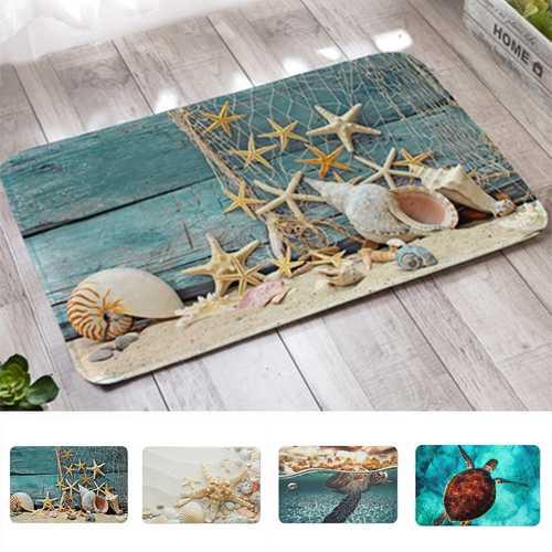 40x60cm 3D Printed Floor Mats Anti-Slip Soft Door Mat Carpet Area Rug Sea Turtle Shell Pattern Mats