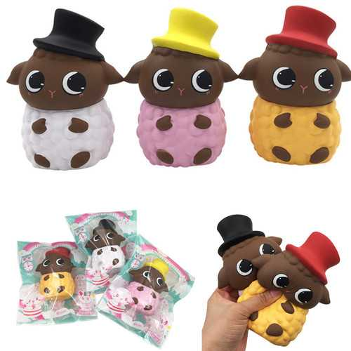 SquishyFun Hat Sheep Squishy 15*11*8.5CM Licensed Slow Rising With Packaging Collection Gift