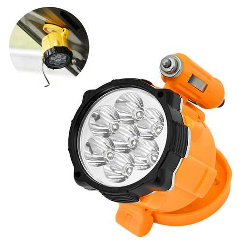 S11 7 x LED Telescopic Charging Cable Magnetic Tail Car Maintenance Light Flashlight