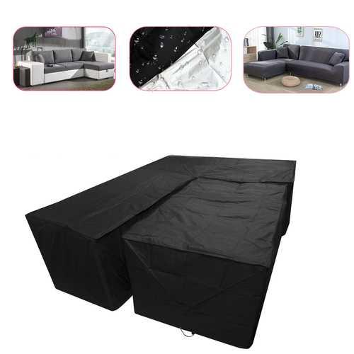 2PCS/Set Waterproof Outdoor Patio Garden L Shape Furniture Rain Snow Table Chair Cover