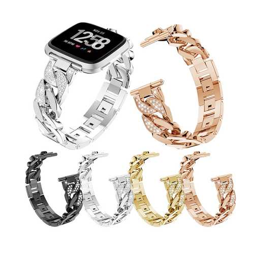 Bakeey Wrist Band Stainless Steel Strap Bracelet Watch Band For Fitbit versa