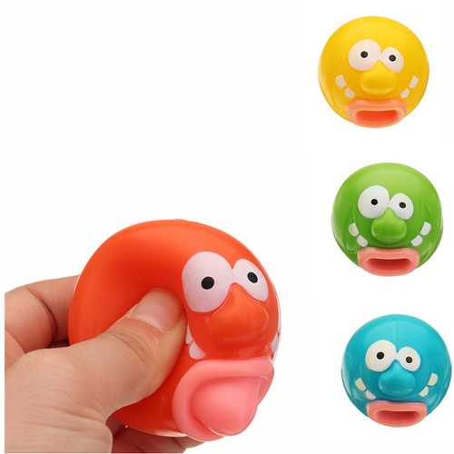 4PCS Novelties Toys Pop Out Toy Clown Squishy Stress Relief Toy Funny Gift Big Mouth Vent Toys