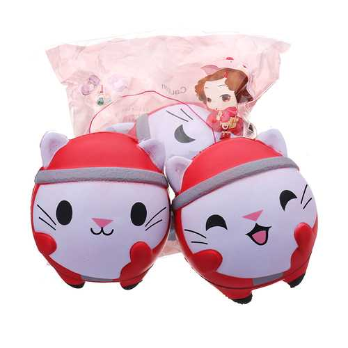 Cooland Christmas Cat Squishy 12*10CM Soft Slow Rising With Packaging Collection Gift Toy