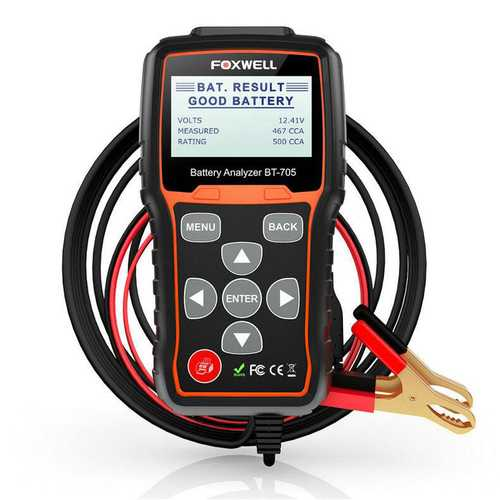 FOXWELL BT705 12V 24V Car Cranking and Charging System Battery Tester