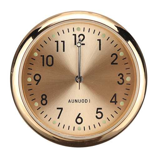 Mini Portable Metal Car Stick Luminous Clock Suitable for Home Office