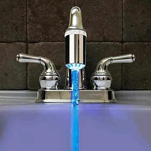 No Battery Water Faucet 3 Color Glow LED Temperature Sensor Tap