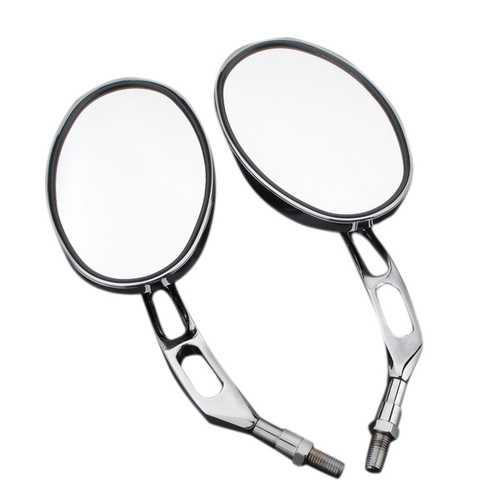 10mm Chrome Motorcycle Round Rear View Mirrors