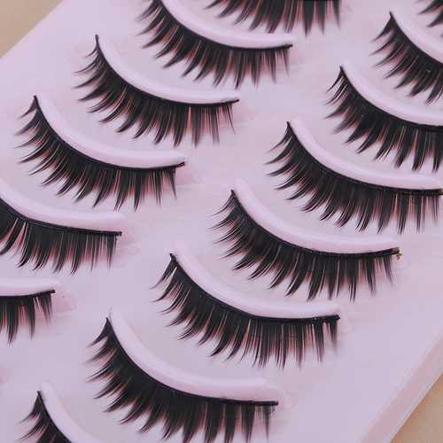 10 Pair Natural False Eyelashes Eye Lash Makeup