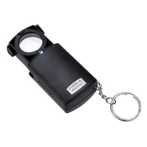 Mini Pocket 45X LED Fold Magnifier Microscope Glass Lens