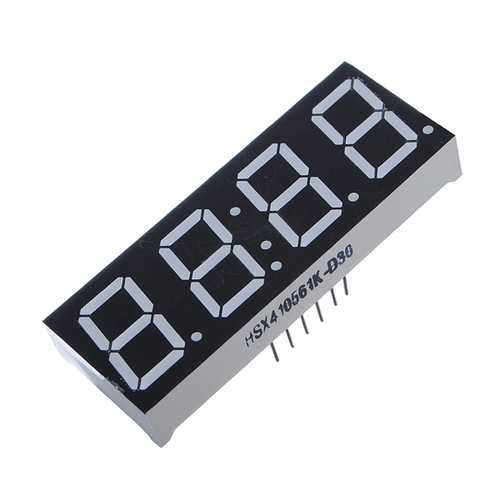 1 Pcs 7-Segment 4 Digit Super Red LED Display Common Anode Time