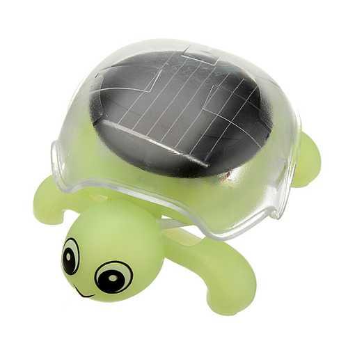 Mini Sunlight Solar Educational Toy Little Tortoise Turtle Gift