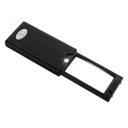2.5X 45X Pull Out LED Pocket Magnifier Loupe