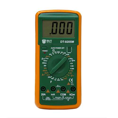 BEST DT9205M LCD AC DC Volt AMP OHM Electrical Digital Multimeter
