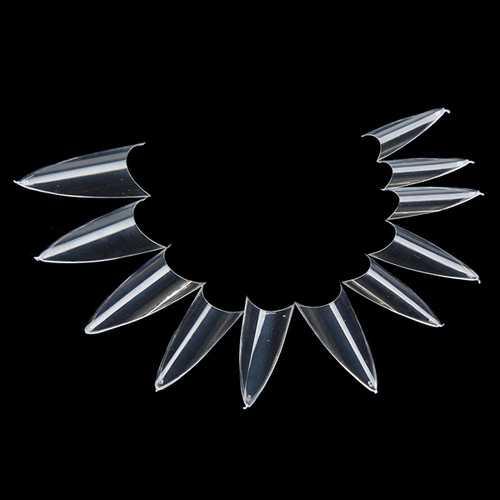 500pcs False Sharp Ending Stiletto Acrylic Nail Art Tips