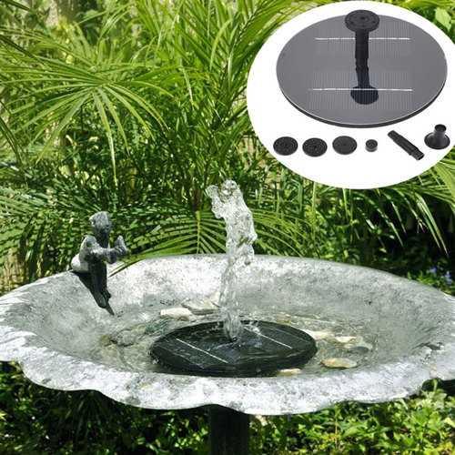 8V 1.4W Mini Solar Panel Brushless Water Pump Garden Floating Fountain Pool Plants Watering Kit