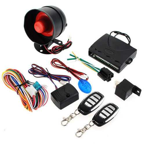 Car Alarm Security System Keyless Entry Siren 2 Remote Control