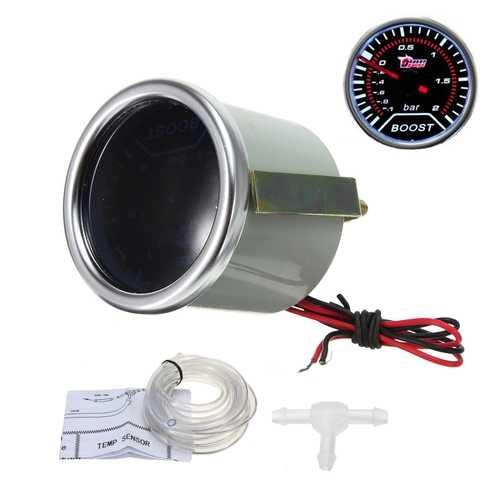 12V 2 Inch Turbo Boost Car LED Gauge Meter Smoke Lens Universal