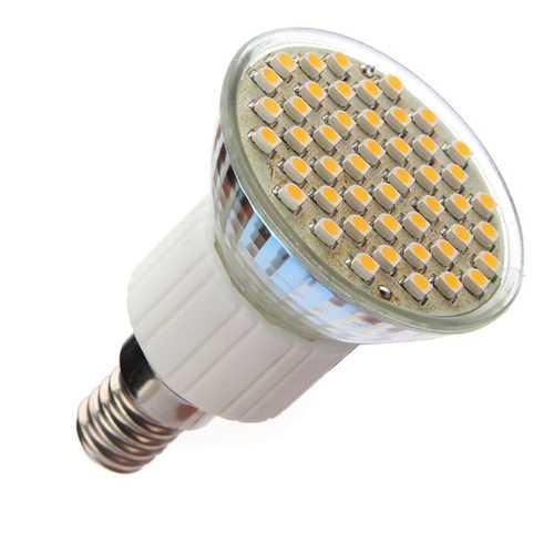 E14 48 SMD LED Warm White 2.5W Light Soptlight Lamp Bulb 230V