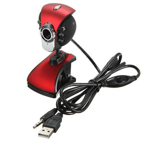 USB 50M 6 LED Night Vision Webcam Camera Webcams With Mic PC Laptop