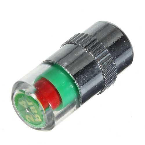 4 Tires Pressure Monitor Indicator Valve Stem Cap Sensor Eye Alert