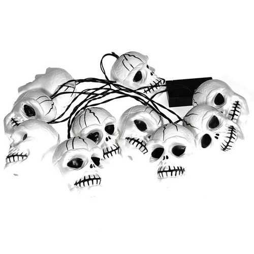 Colorful Bones String Lights Halloween Skull Heads Lamp