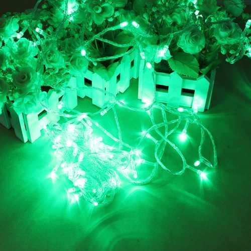 100 LED 10m Green String Decoration Light For Christmas 110V 220V