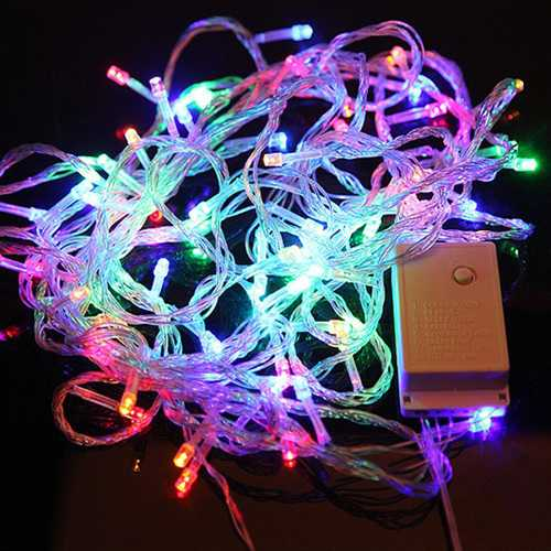 100 LED 10m Multicolor String Decoration Light for Christmas 110v