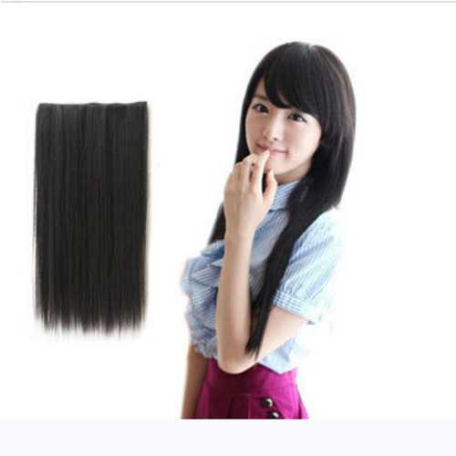 Fashion Women Long Straight Curl Synthetic Clip On Hair Extensions