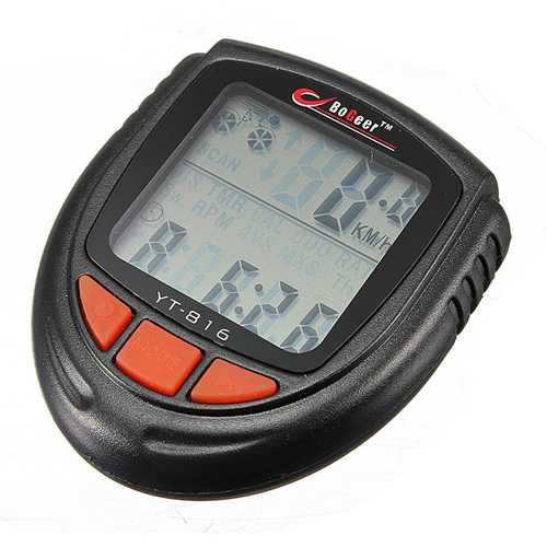 Bike Bicycle Wired Waterproof LCD Computer Speedometer Odometer
