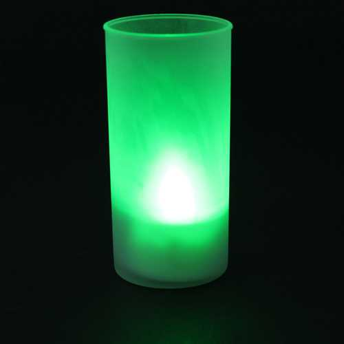 Romantic Flameless Blow Sound Sensor LED Candle Tea light