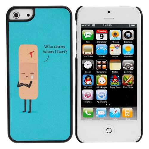Cute Sad Cartoon Wound Plastic Hard Cover Case Skin For iPhone 5