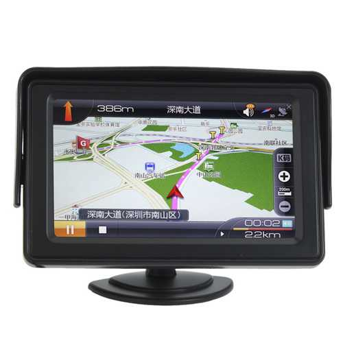 4.3 Inch LCD Car Rear View Monitor with LED Backlight for Camera DVD
