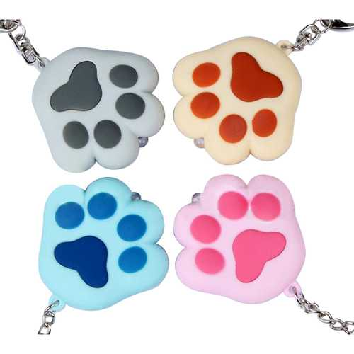 Band LED Light Sound Cat Claw Key Chain  Color Optional