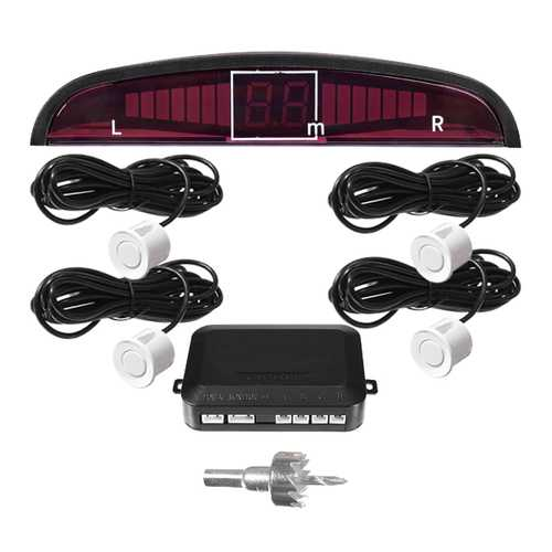Double CPU 4 Car Parking System Kit Sensors with LED Display