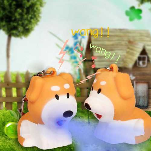 Luminous Sound Cartoon Dog LED Key Chain Gift Key Pandent