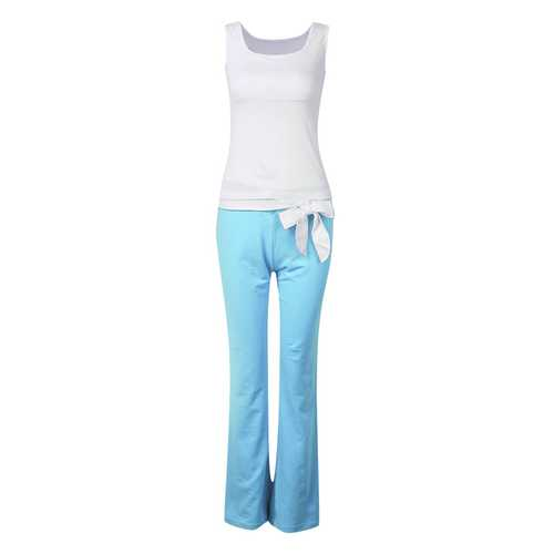 Women's Two Colors Casual Sleeveless Yoga Clothes Set