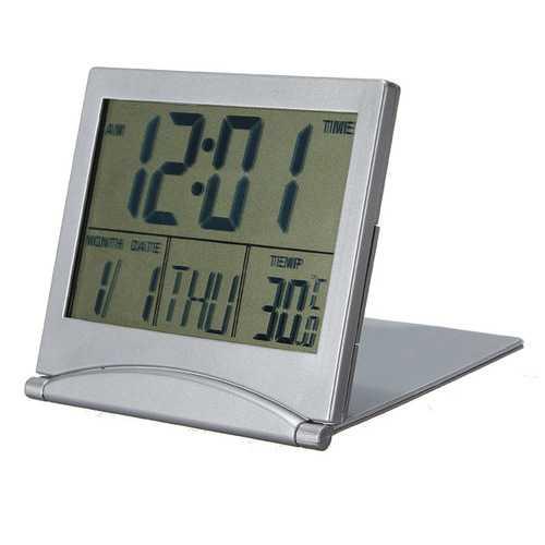 Desk Clock Calendar Date Digital Alarm Centigrade Fahrenheit Thermom