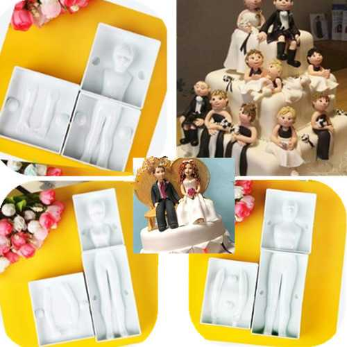 3D Man's Body Cake Fondant Decorating Mold