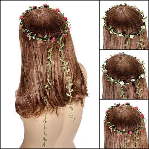 Bohemian Festival Wedding Bride Garland Headdress Flower Headbrands