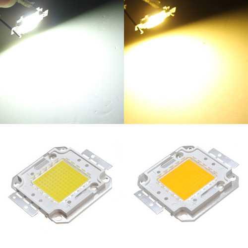 100W White/Warm White High Brightest LED Light Lamp Chip 32-34V