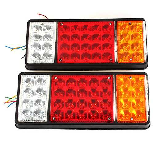 12V Truck Tail Light LED Electronic Rear Light Rail Network Tail Light