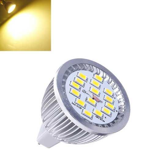 10X MR16 6.4W Warm White SMD 5630 LED Spot Lightt Bulb 10V-18V AC