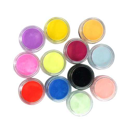 12 Colors Nail Art Tips Acrylic 3D UV Gel Powder Dust