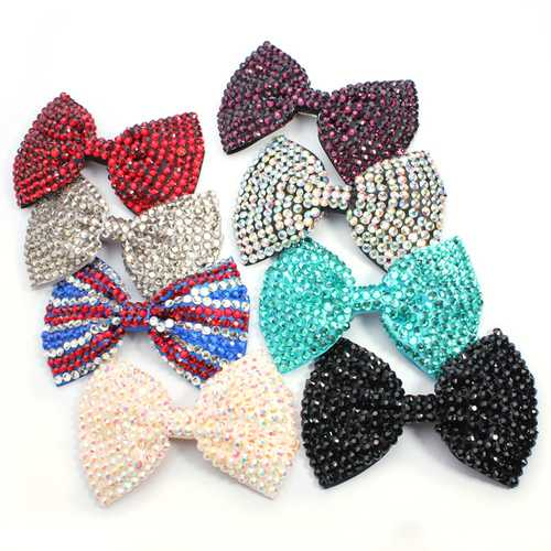 Large Shining Crystal Diamond Bowknot Hairpin Hair Accessories