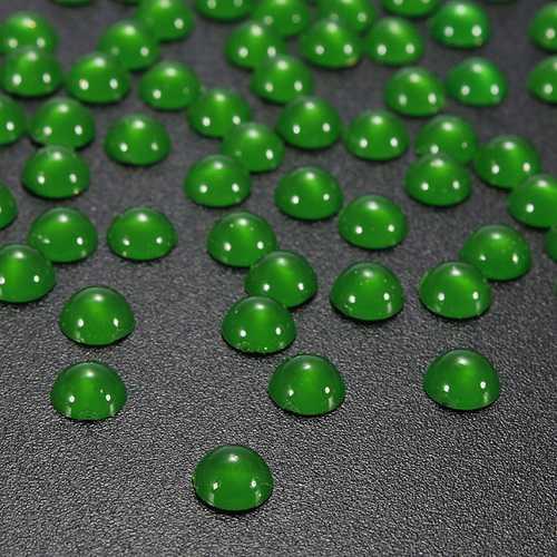 100pcs Half Round Pearl Bead Nail Art Tips 3D Gems Decoration 5mm