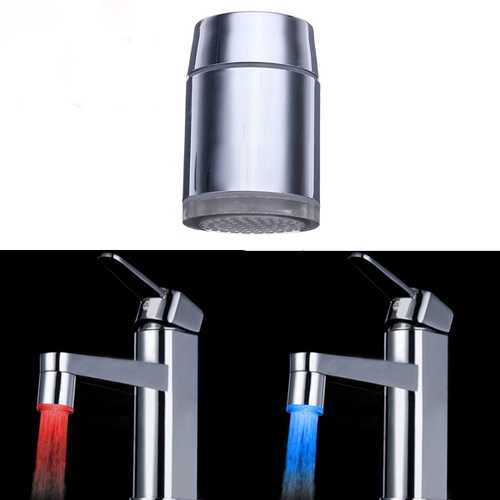 10X 7 Color Changing LED Faucet Color Changing Water Tap Light Silver