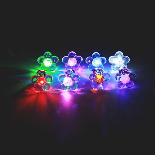 1pc Halloween Plum Blossom Led Light Ear Stud Dance Party Accessories