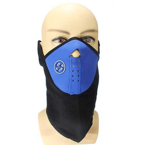 Blue Color Motorcycle Cycling Biker Ski Snowboard Neck Face Mask