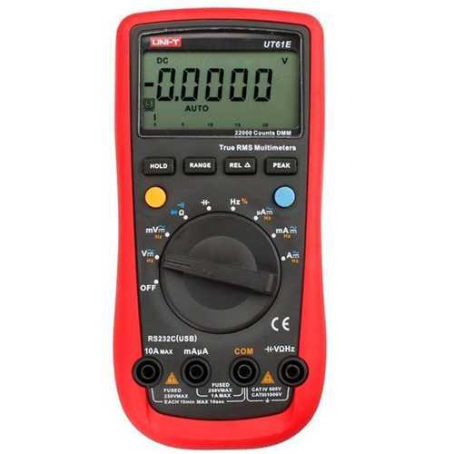 UNI-T UT61E Auto Range Digital Multimeter AC/DC Volt Amp Resistance Capacitance Frequency Duty Cycle